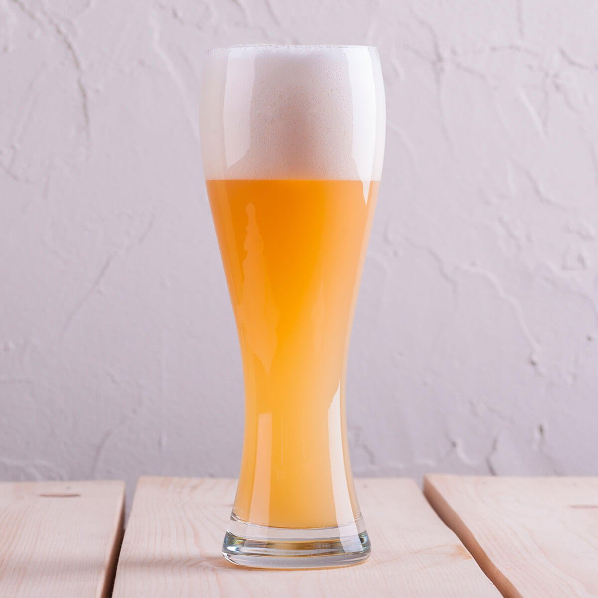 A German Hefeweizen in a Weizen Glass