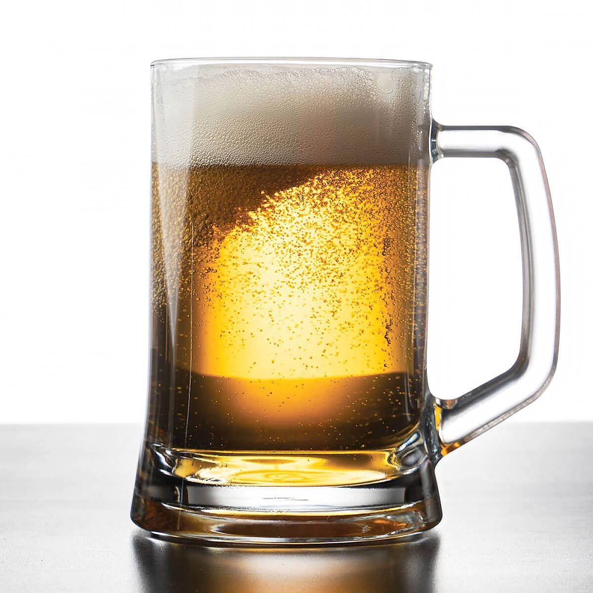 An American Pale Lager in a Beer Mug