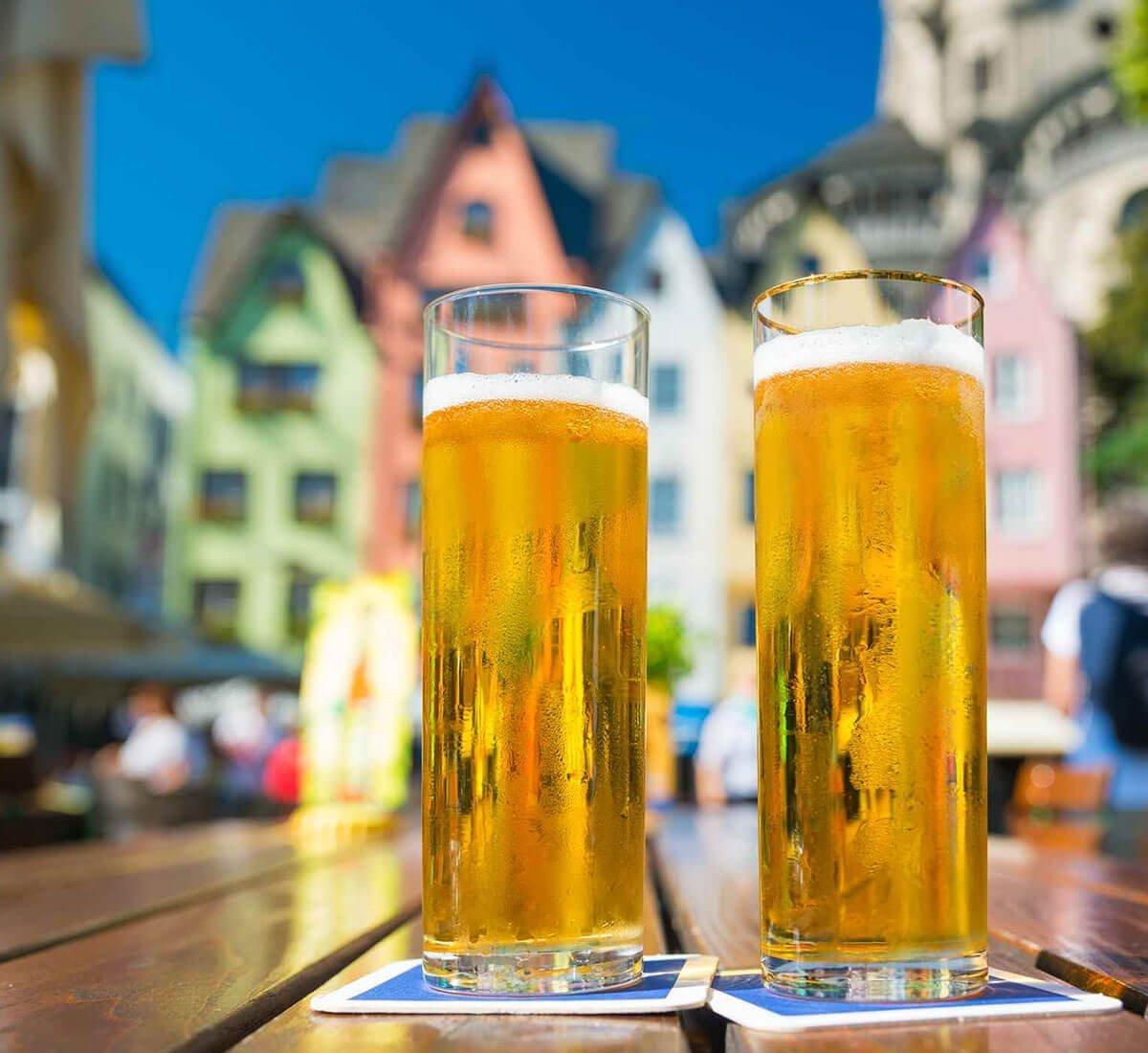 German Kölsch in a Stange Glass