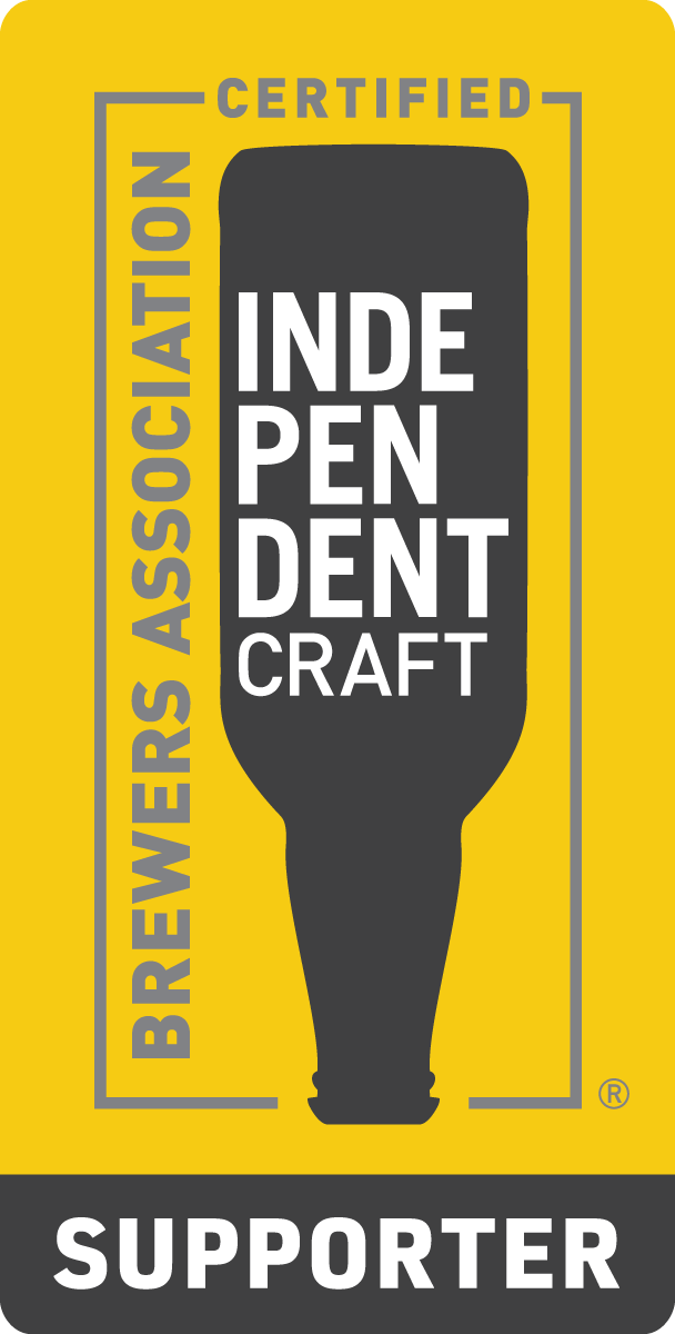 Independent Craft Brewer Supporter Seal Issued by the Brewers Association