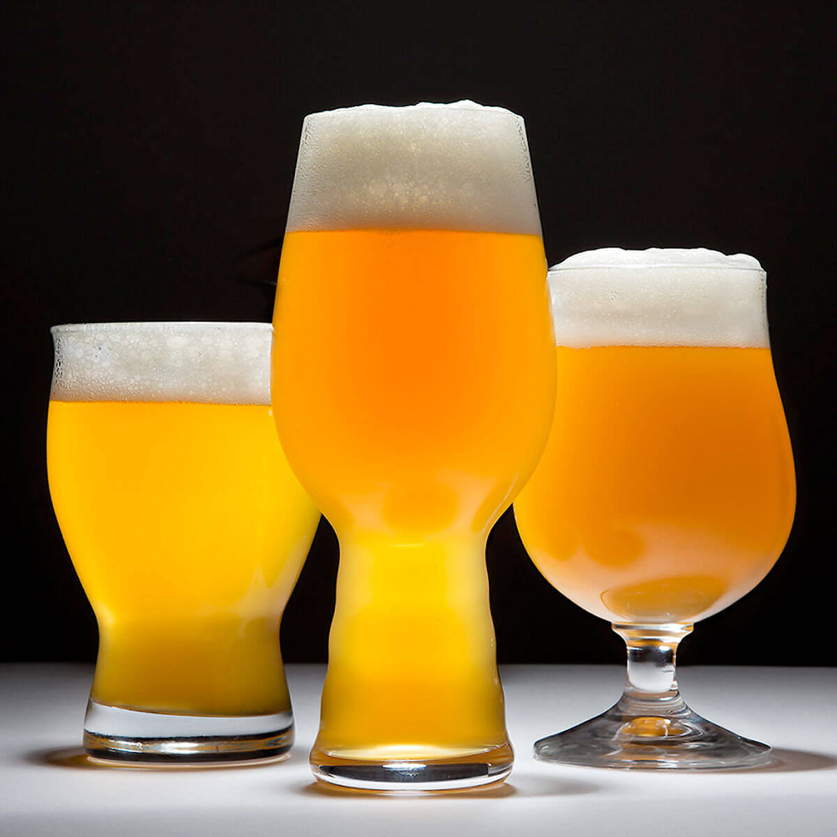 A New England IPA or Hazy IPA in Assorted Glassware