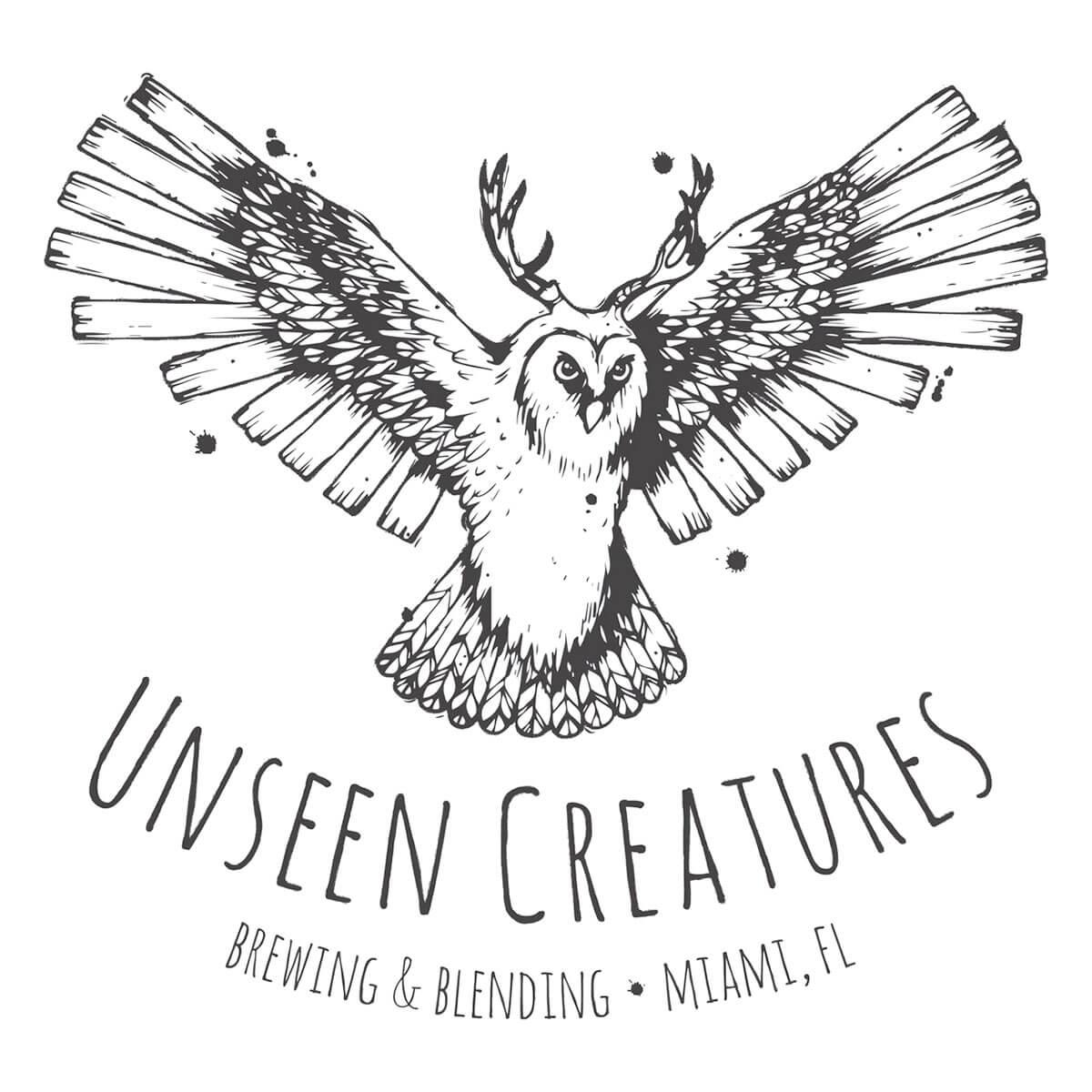 Unseen Creatures Brewing & Blending Logo