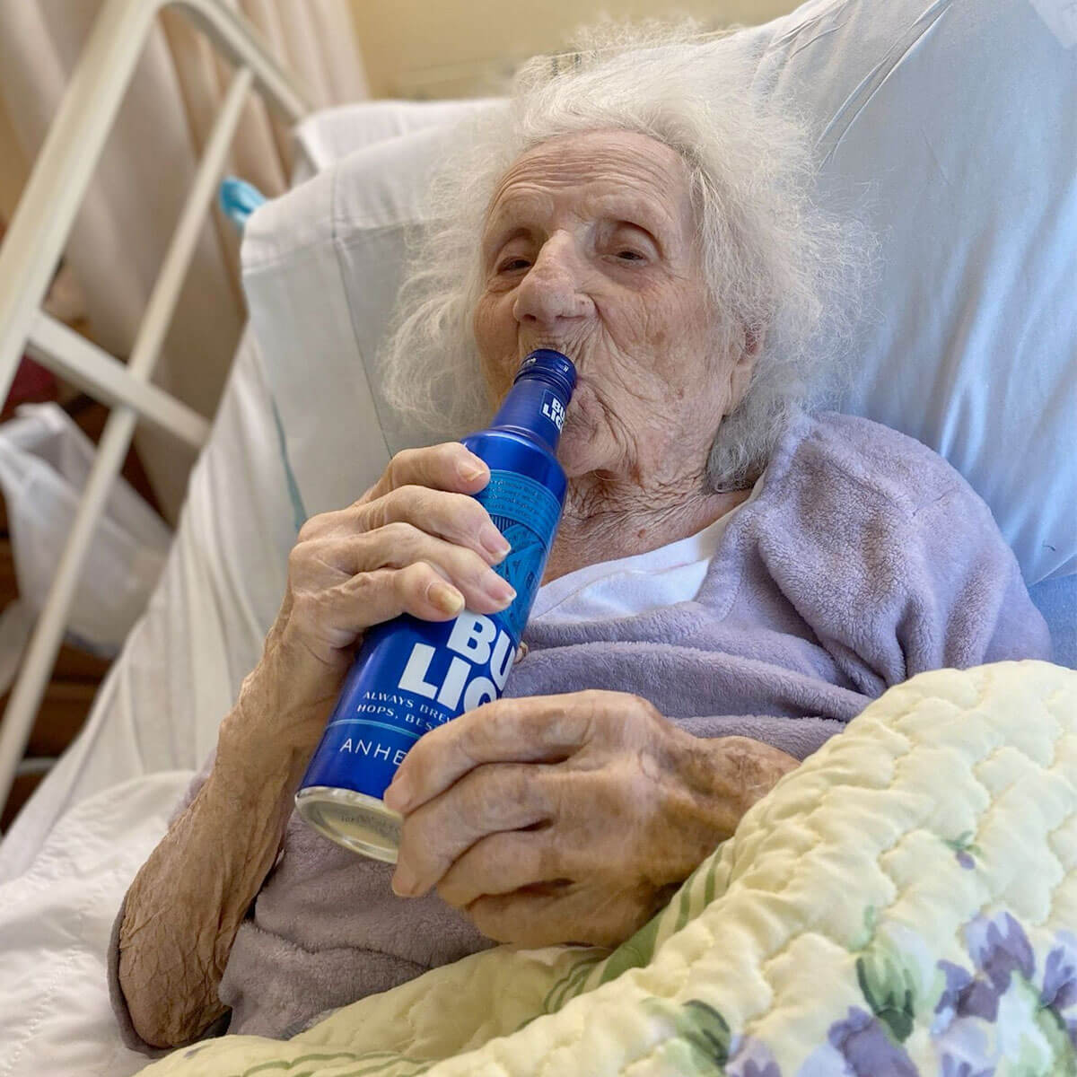A feisty Polish 103 year-old grandmother, Jennie Stejna, contracted COVID-19 while in a nursing home but she beat the odds and celebrated the feat with a cold beer.