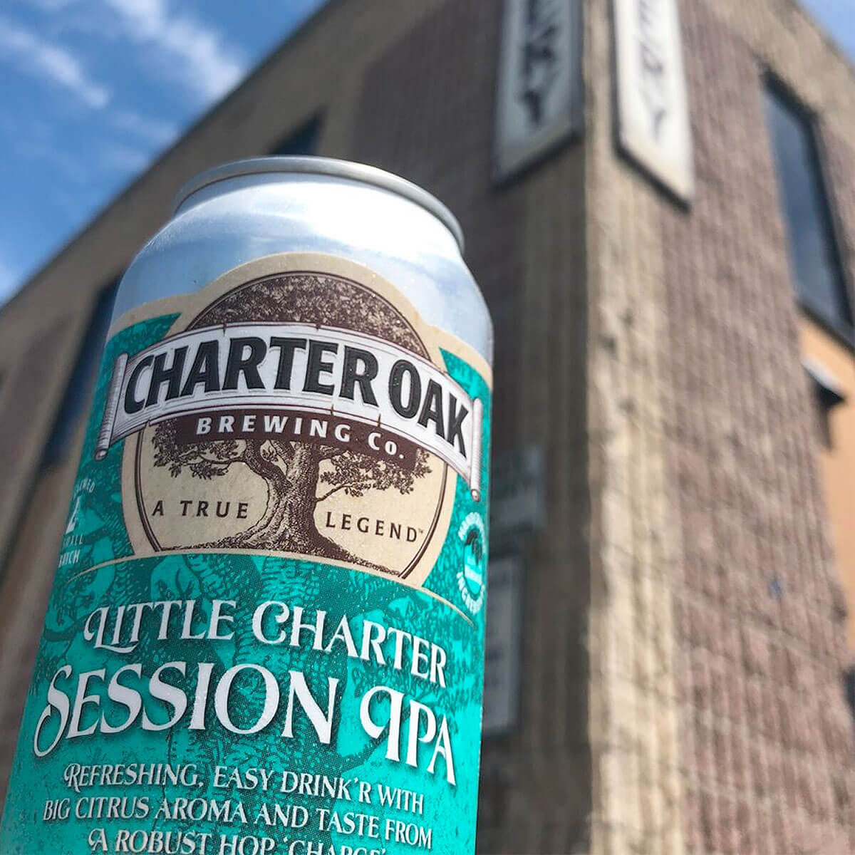 Charter Oak Brewing Company has added the Little Charter Session IPA to its core lineup and at 4.7% ABV, this well-balanced SIPA is a real easy drinker.