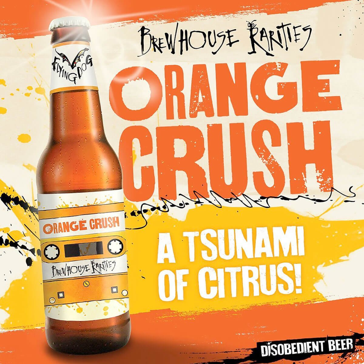 Flying Dog Brewery created the latest summer ale to add to your cooler, Orange Crush, a boozy beer mimics the dominant flavors and aroma of the cocktail.