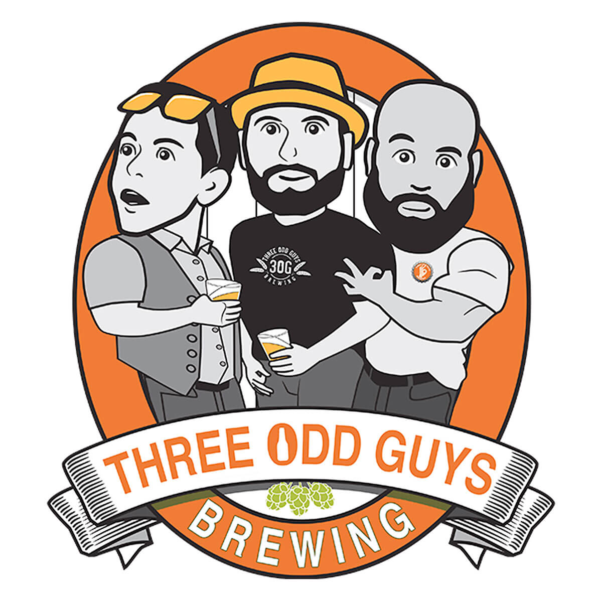Three Odd Guys Brewing Logo